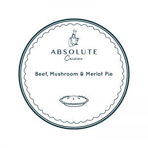 Absolute Cuisine Beef Mushroom & Merlot Pie